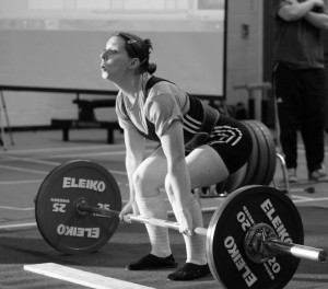Janine Hussey at a Powerlifting Competition