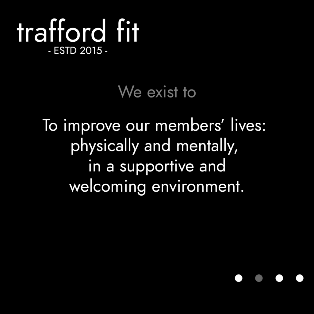 TFit Values - To improve our members' lives: physically and mentally