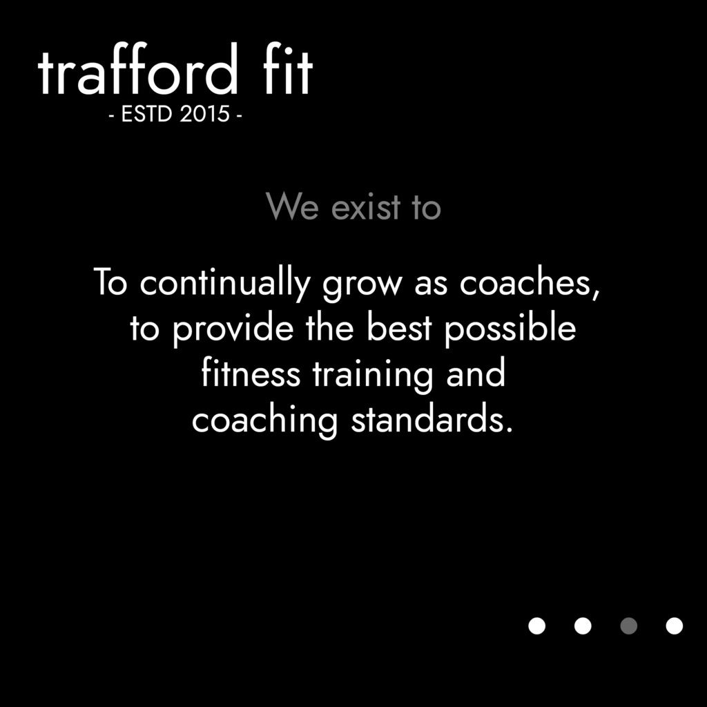 TFit Values - To continually grow as coaches to provide the best fitness training and coaching standards