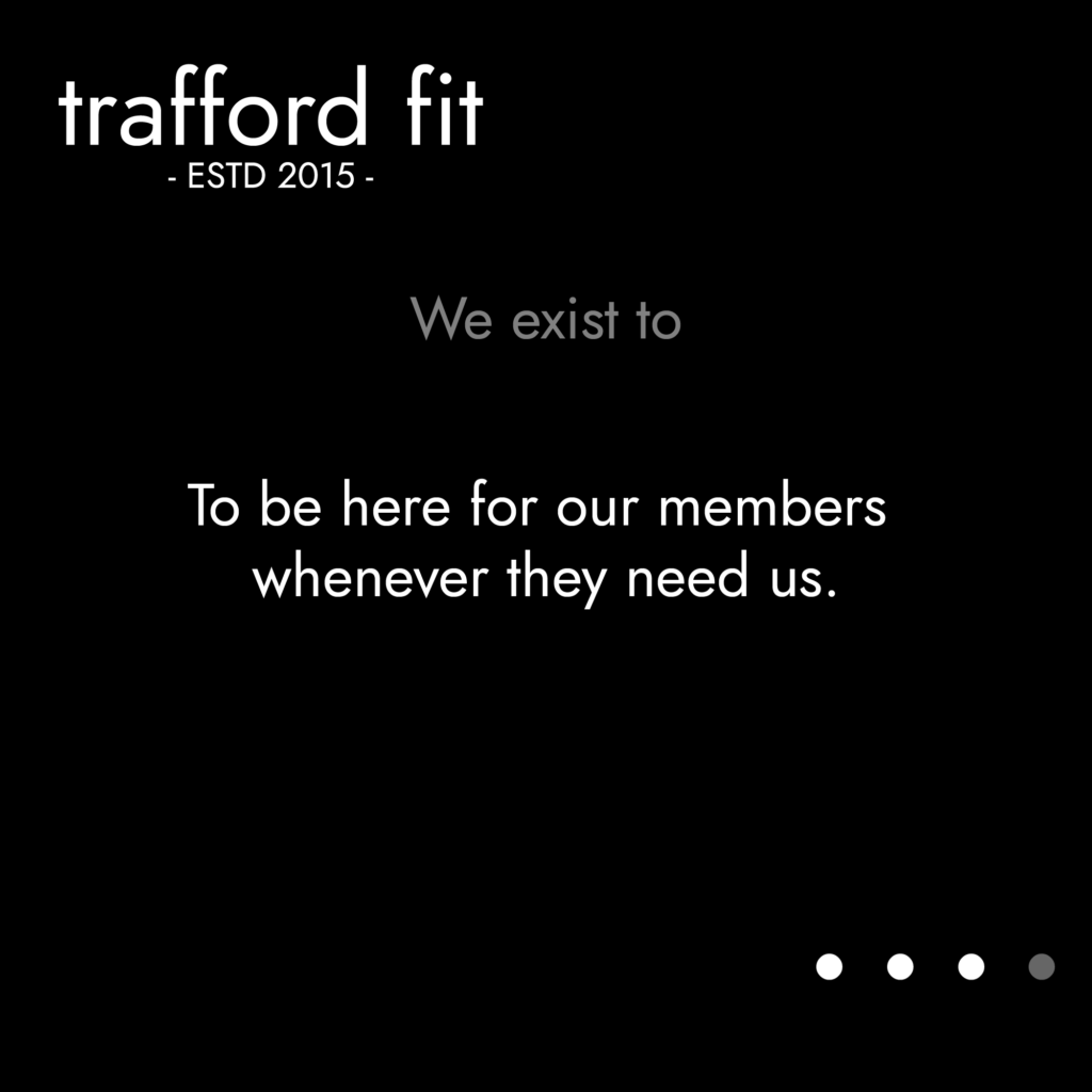 TFit Values - To be here for our members whenever they need us